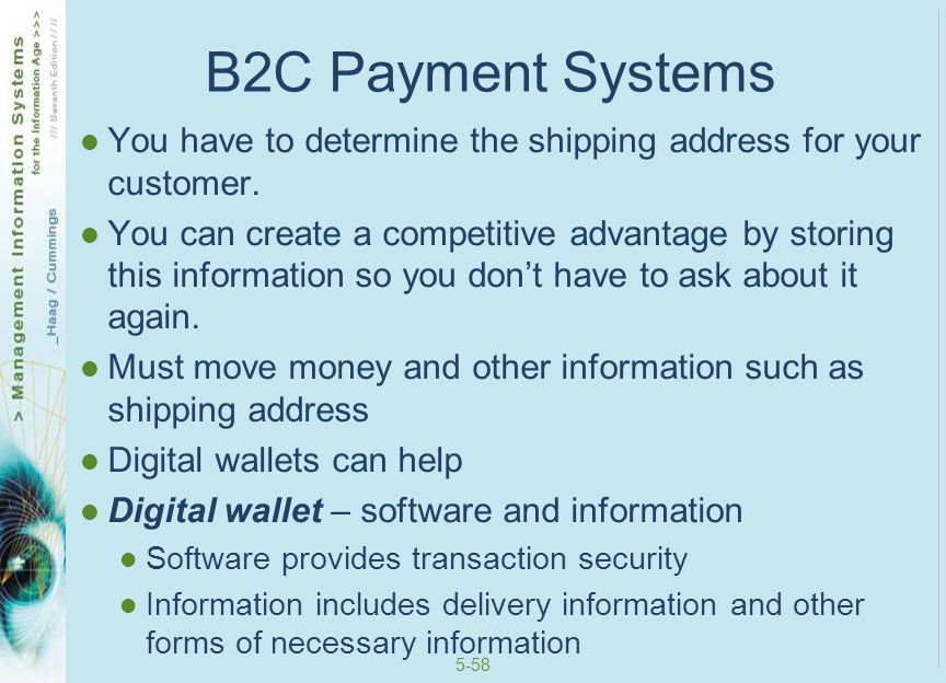 B2C Payment Systems You have to determine the shipping address for your customer.