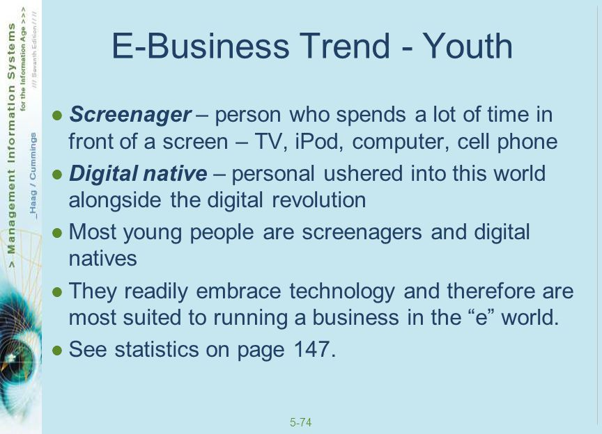 E-Business Trend - Youth