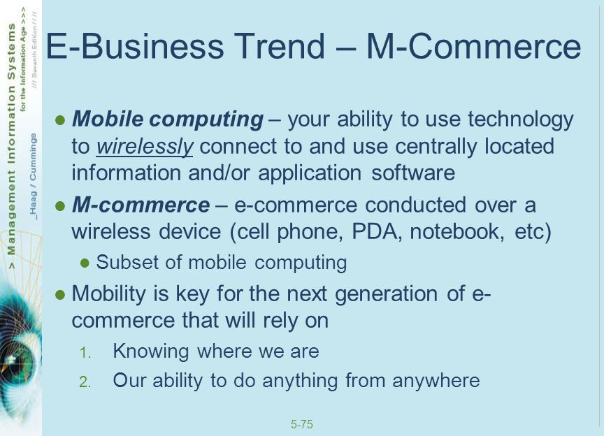E-Business Trend – M-Commerce