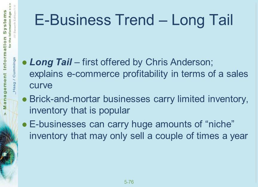 E-Business Trend – Long Tail