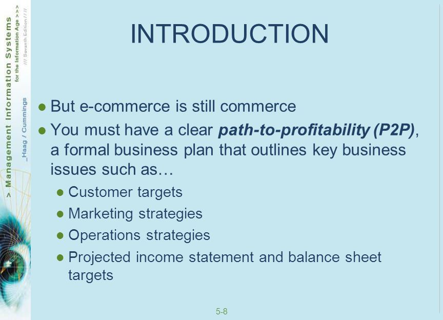 INTRODUCTION But e-commerce is still commerce