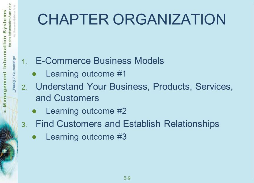 CHAPTER ORGANIZATION E-Commerce Business Models