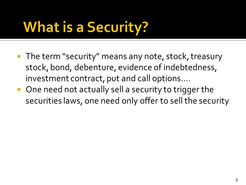 What is a Security