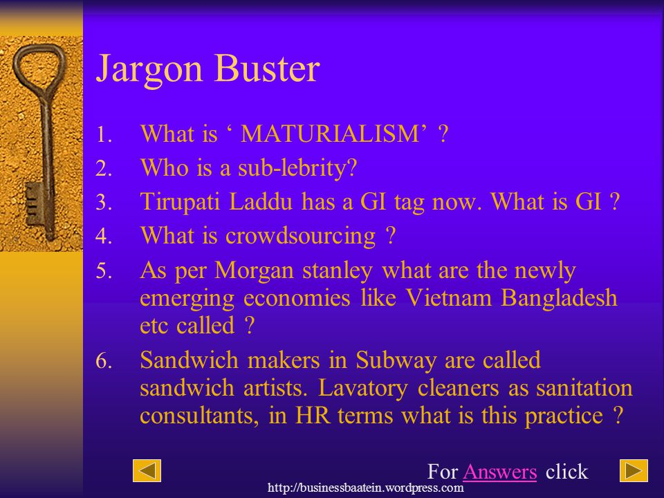 Jargon Buster What is ' MATURIALISM' Who is a sub-lebrity