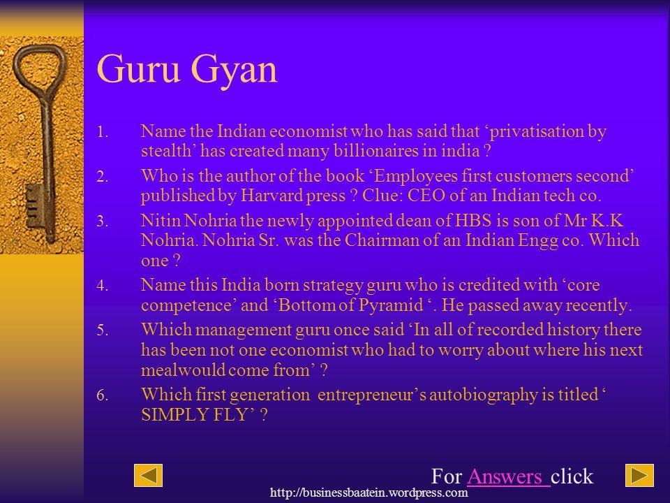 Guru Gyan For Answers click