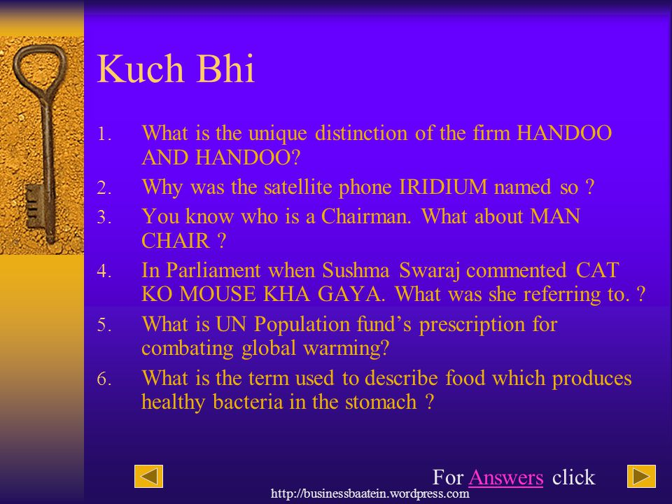 Kuch Bhi What is the unique distinction of the firm HANDOO AND HANDOO