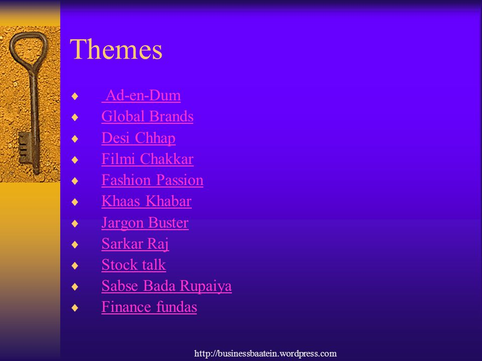 Themes Ad-en-Dum Global Brands Desi Chhap Filmi Chakkar