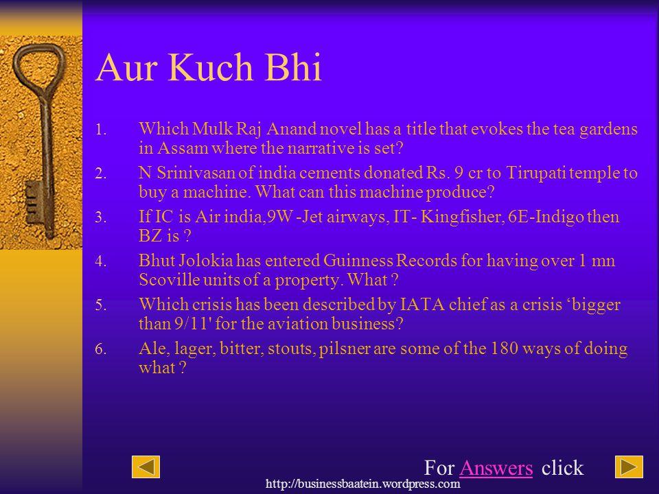 Aur Kuch Bhi For Answers click
