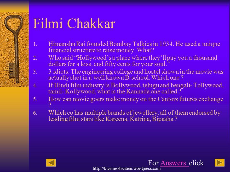Filmi Chakkar For Answers click