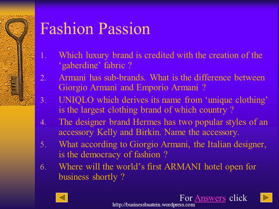 Fashion Passion Which luxury brand is credited with the creation of the 'gaberdine' fabric