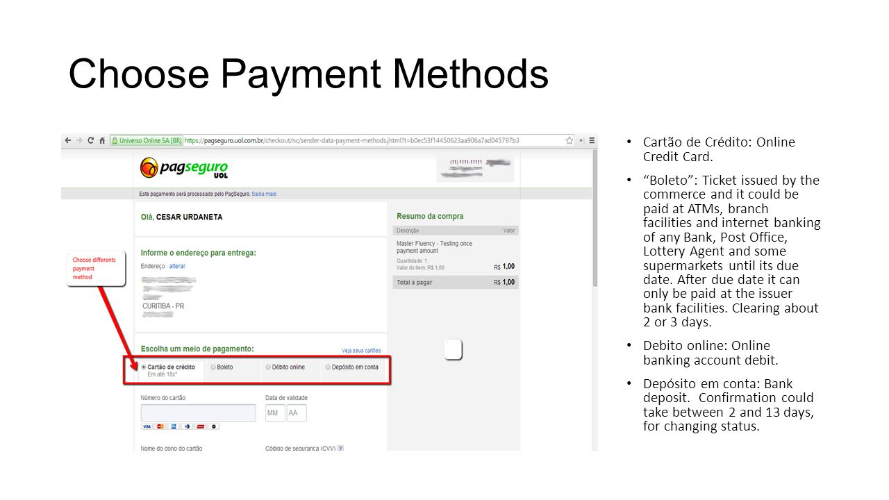 Choose Payment Methods