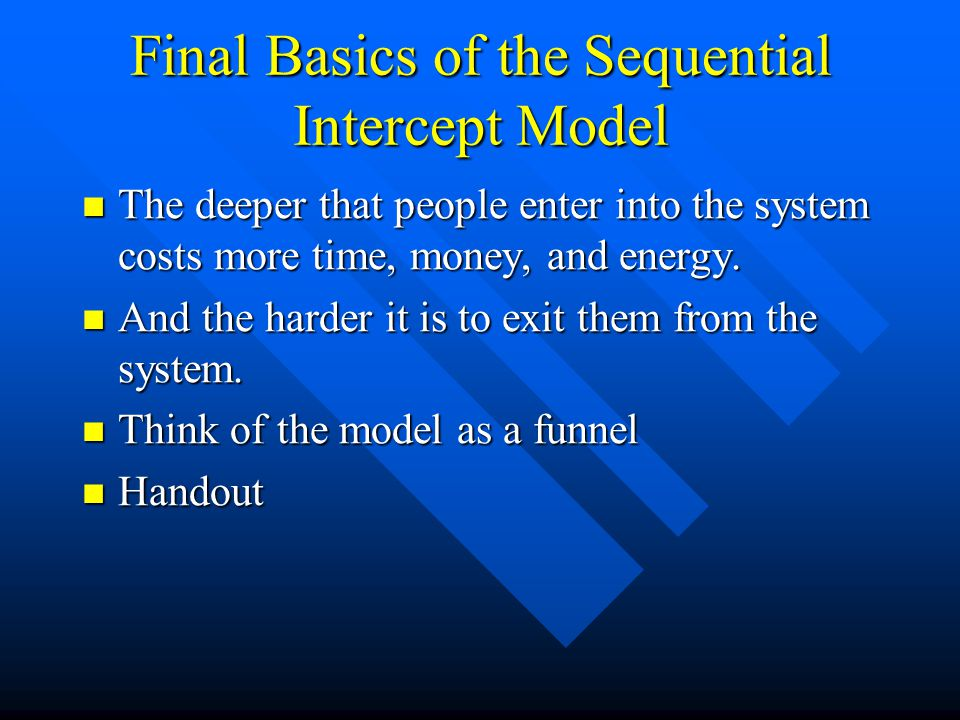 Final Basics of the Sequential Intercept Model