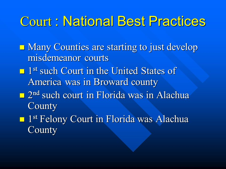 Court : National Best Practices
