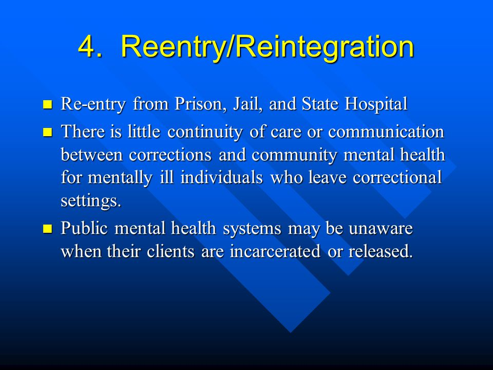 4. Reentry/Reintegration