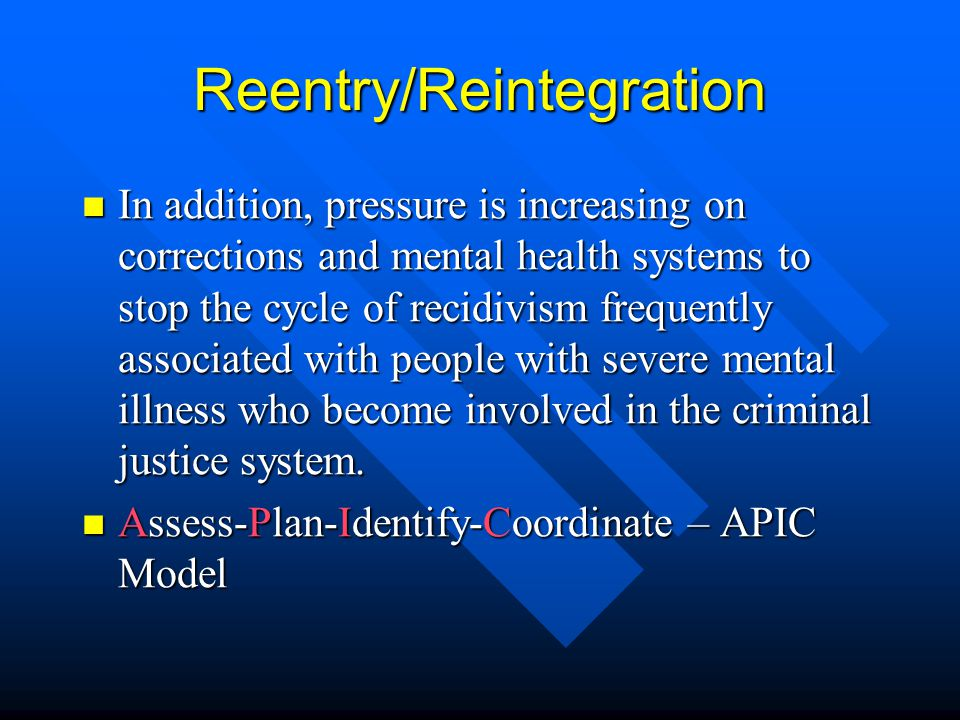 Reentry/Reintegration