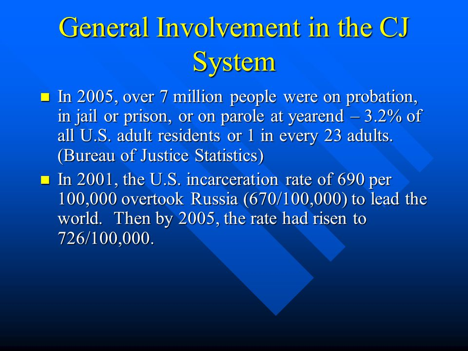 General Involvement in the CJ System