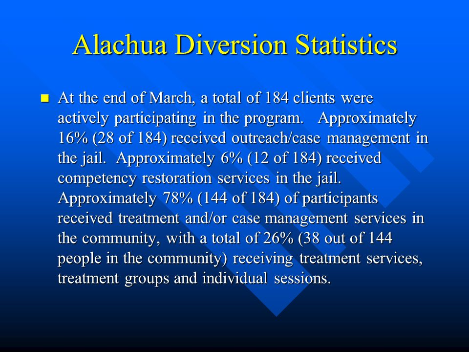 Alachua Diversion Statistics