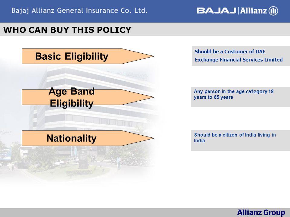 Basic Eligibility Age Band Eligibility Nationality