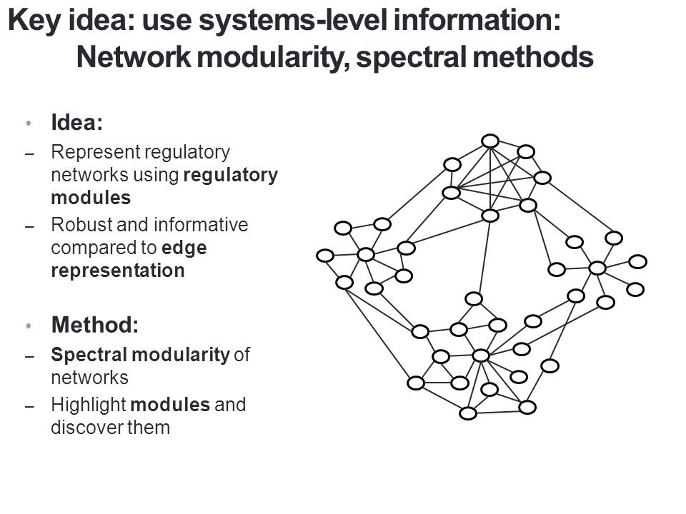 Key idea: use systems-level information:
