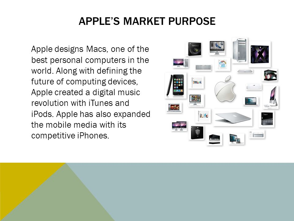 Apple's Market purpose