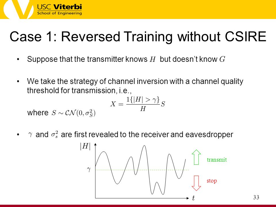 Case 1: Reversed Training without CSIRE