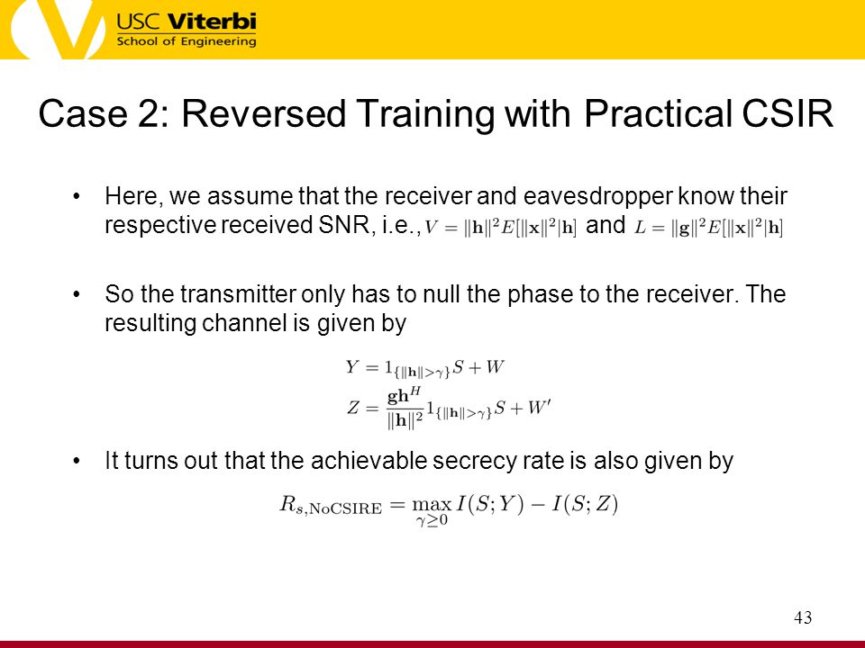 Case 2: Reversed Training with Practical CSIR