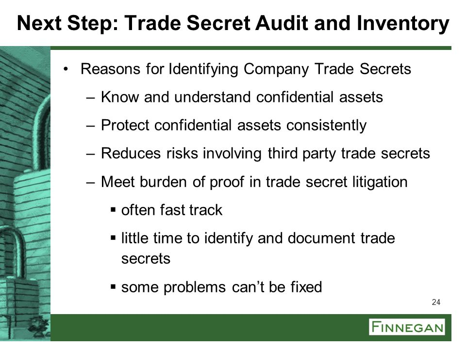 Next Step: Trade Secret Audit and Inventory