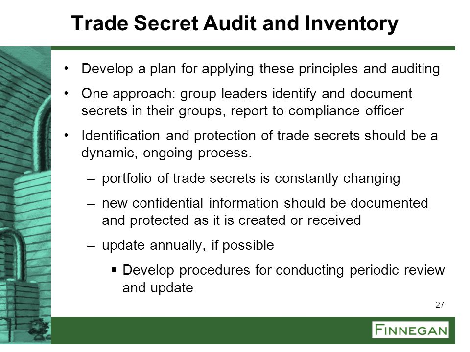 Trade Secret Audit and Inventory