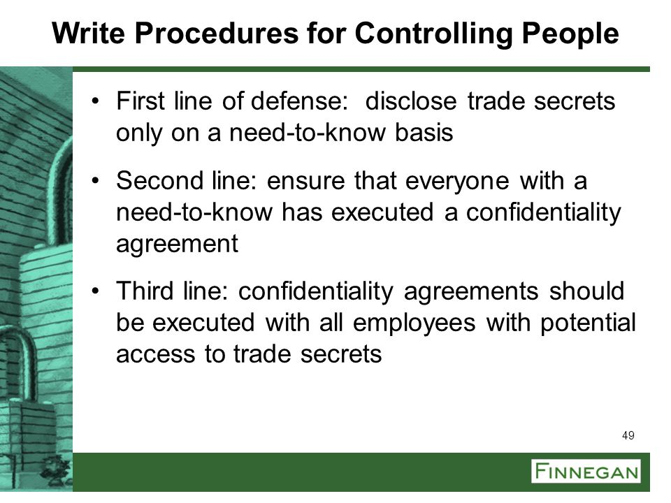 Write Procedures for Controlling People