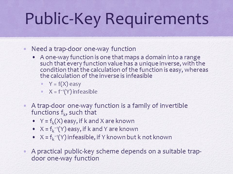 Public-Key Requirements