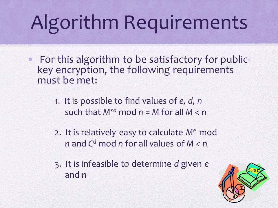 Algorithm Requirements