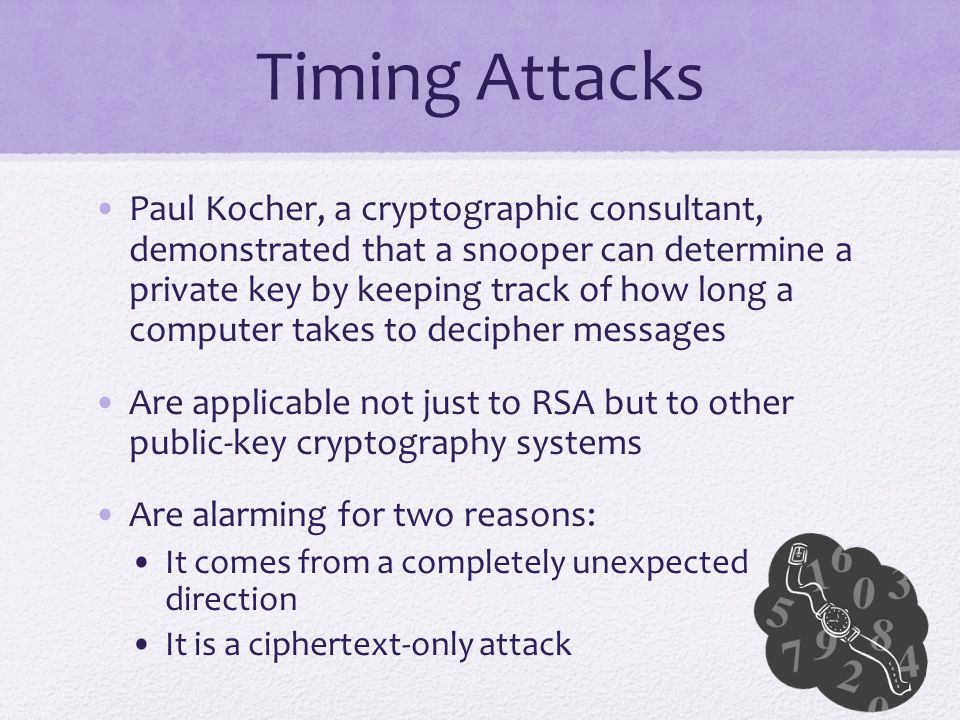 Timing Attacks
