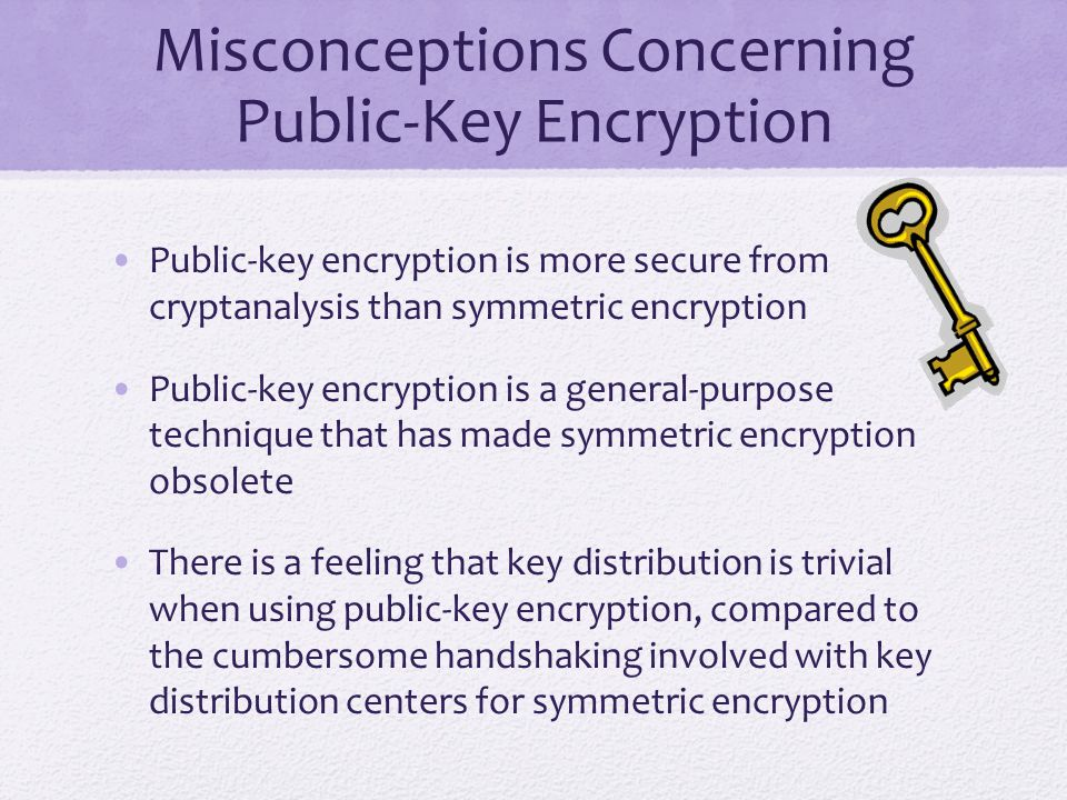Misconceptions Concerning Public-Key Encryption