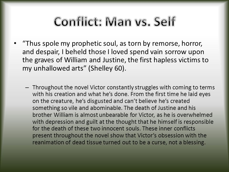 Conflict: Man vs. Self