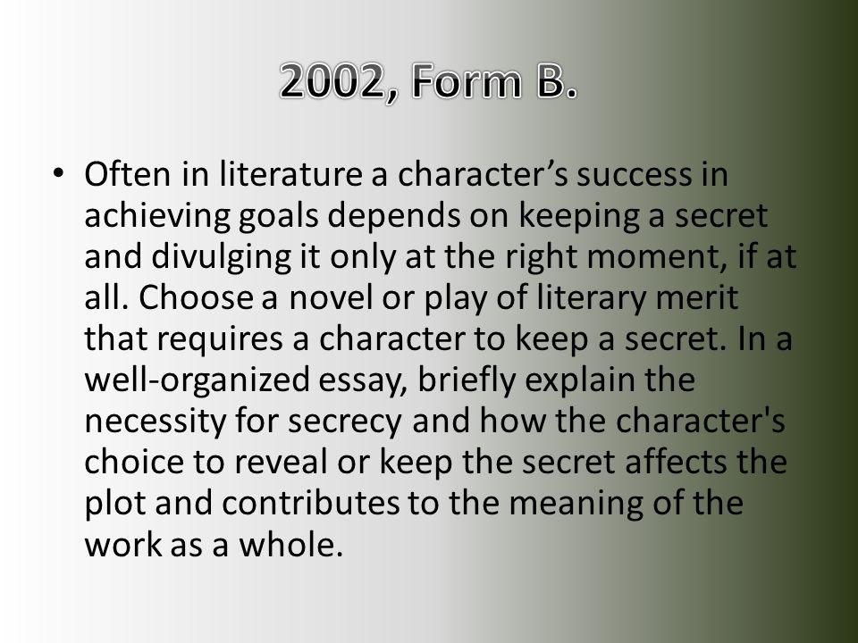2002, Form B.