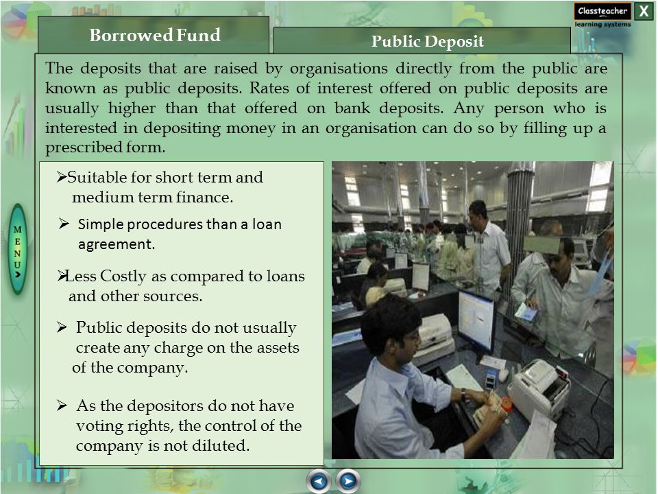 Borrowed Fund Public Deposit