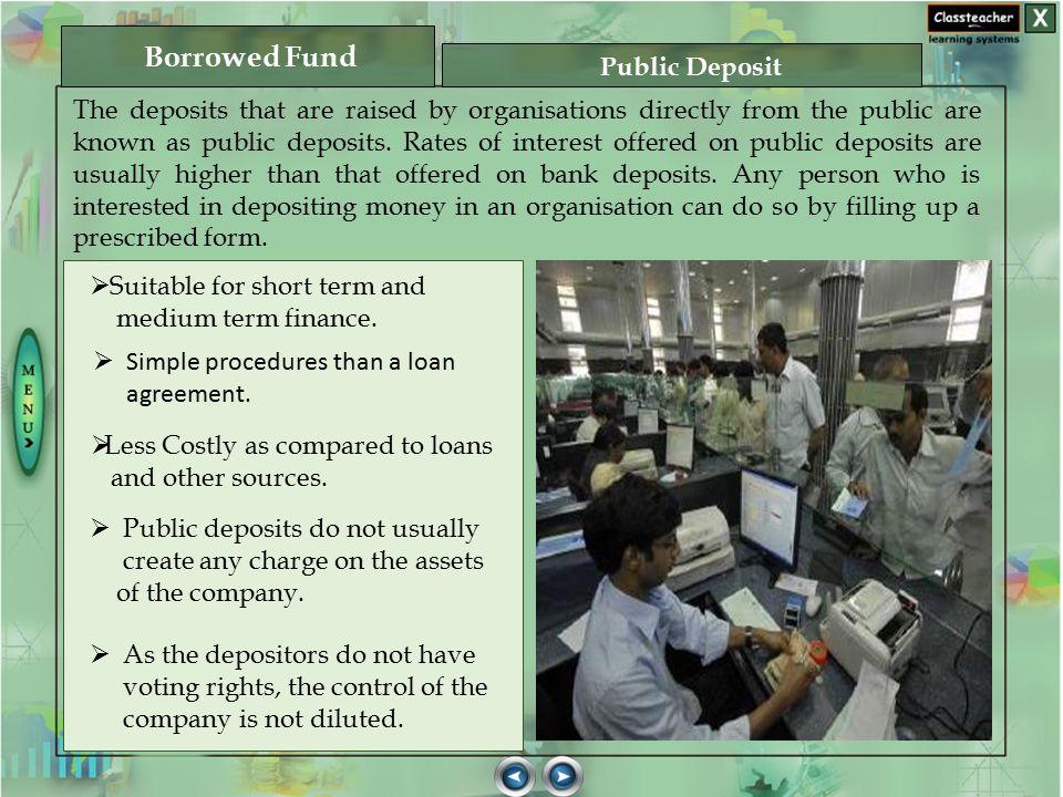Borrowed Fund Public Deposit