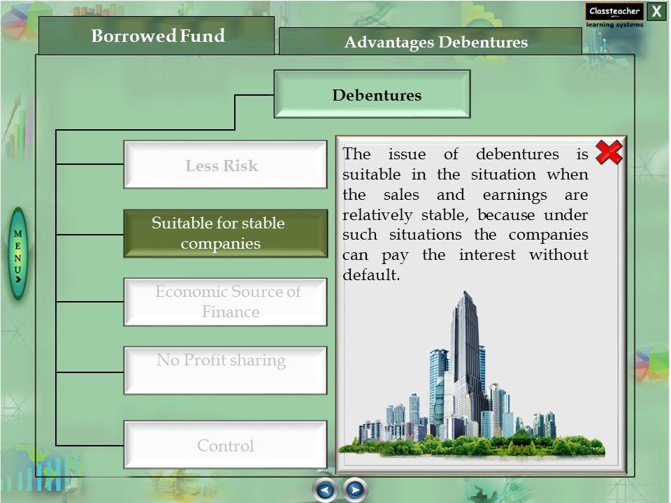 Advantages Debentures