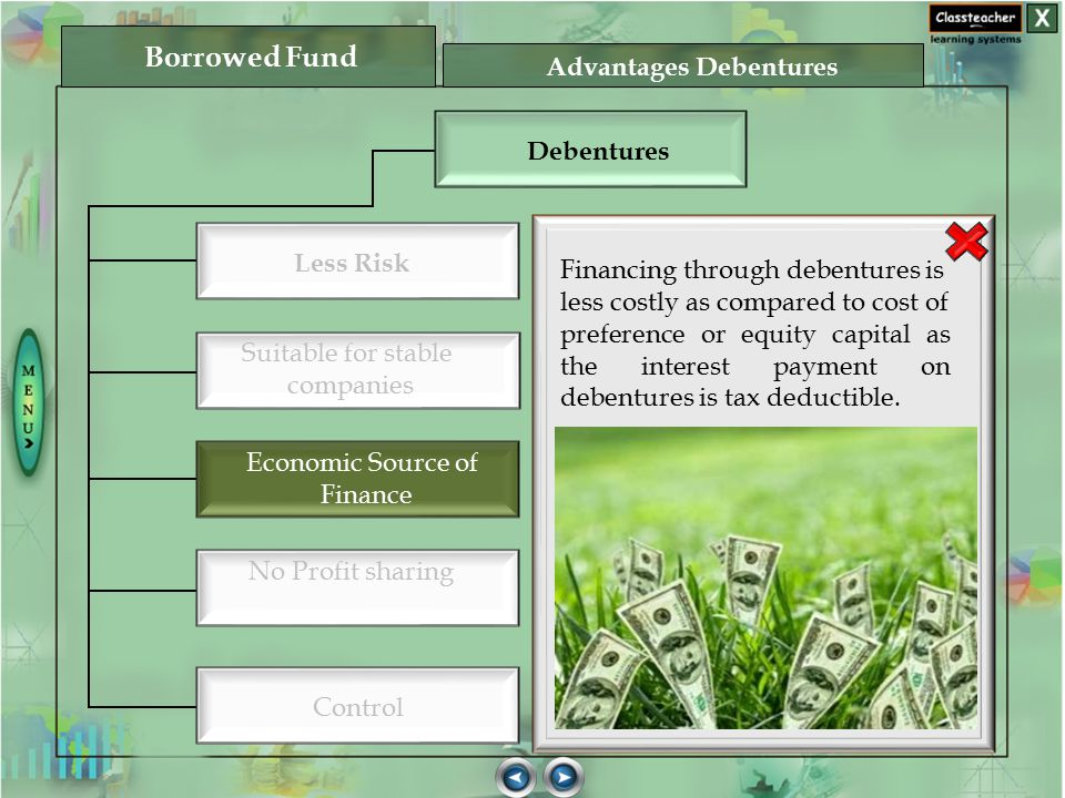 Advantages Debentures