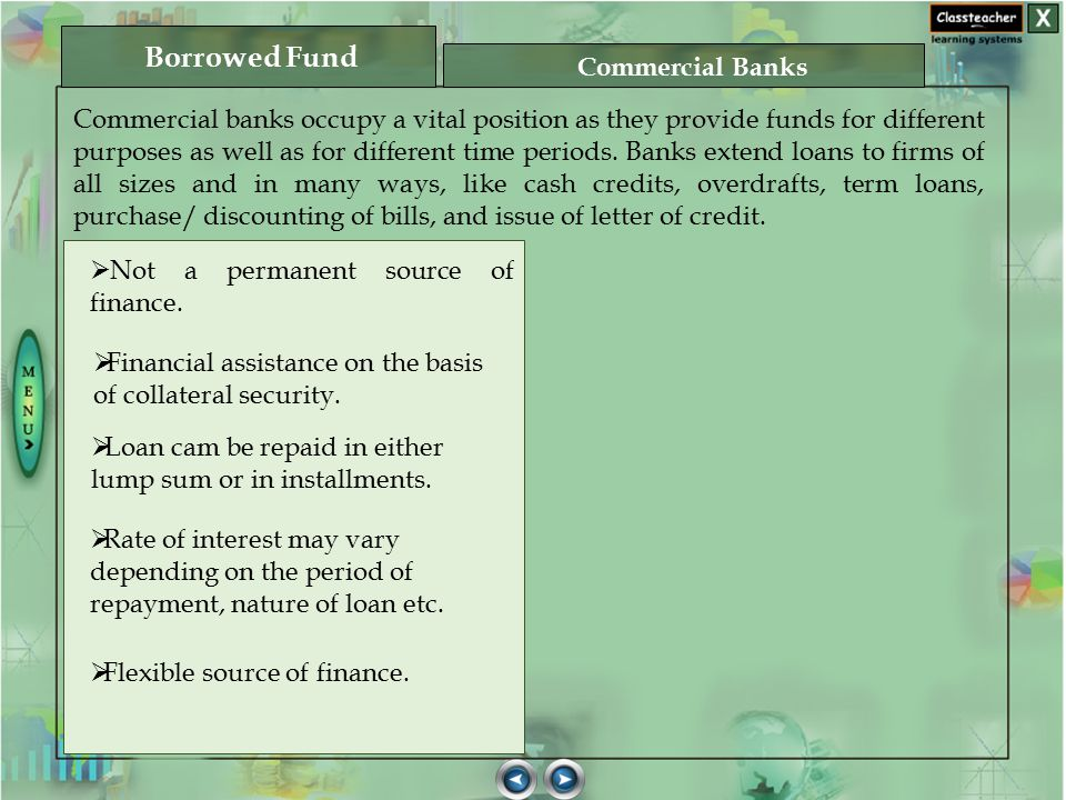Borrowed Fund Commercial Banks