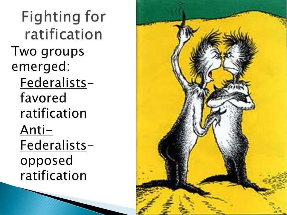 Fighting for ratification
