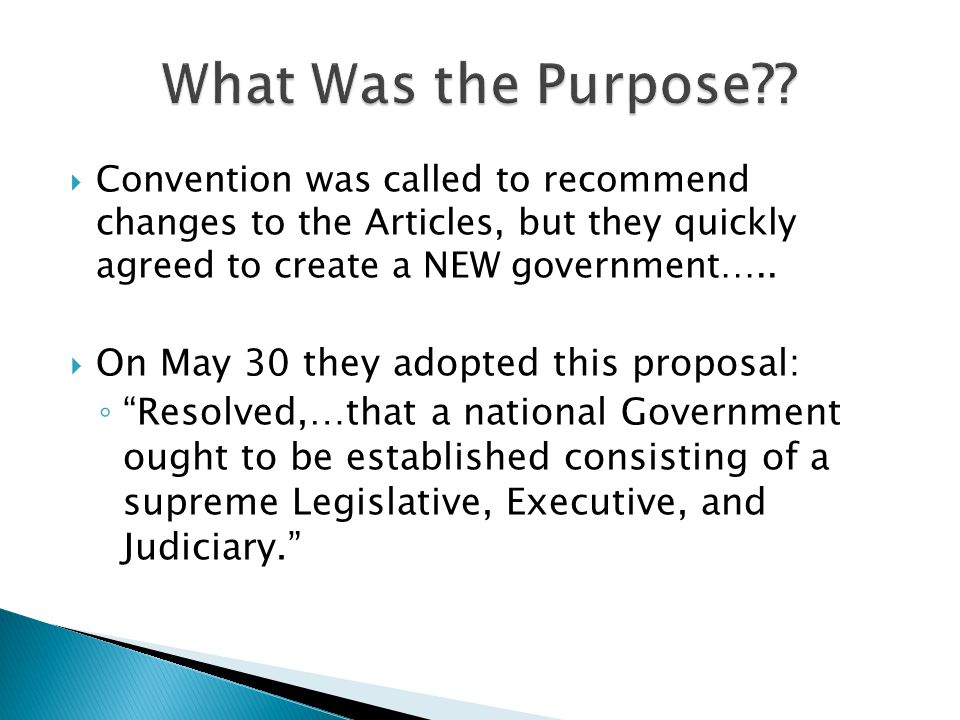 What Was the Purpose On May 30 they adopted this proposal: