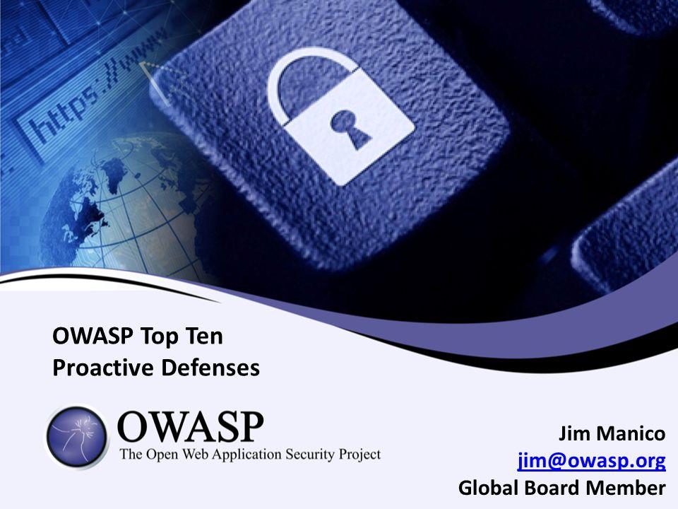 OWASP Top Ten Proactive Defenses