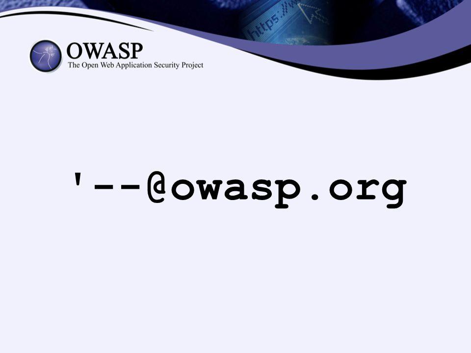 --@owasp.org