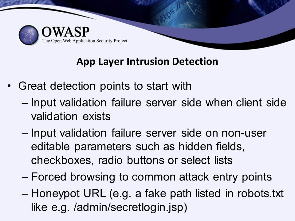 App Layer Intrusion Detection