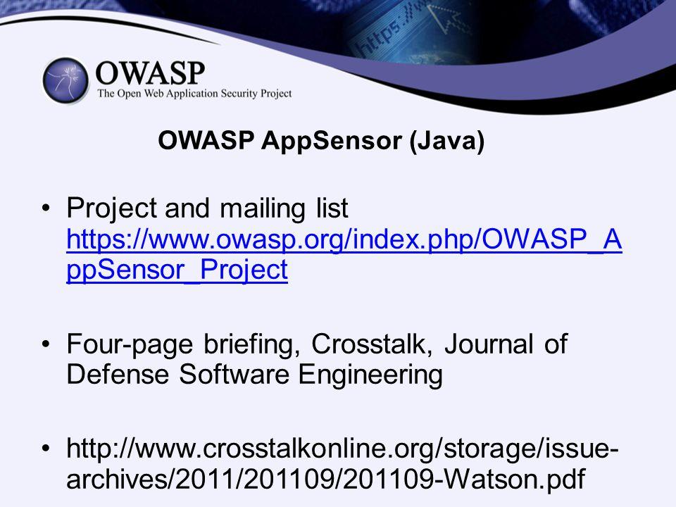 OWASP AppSensor (Java)