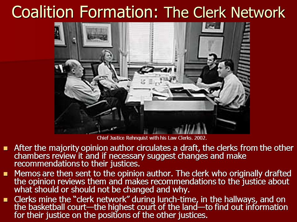 Coalition Formation: The Clerk Network