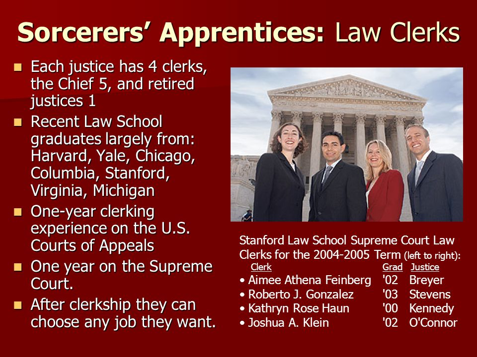 Sorcerers' Apprentices: Law Clerks