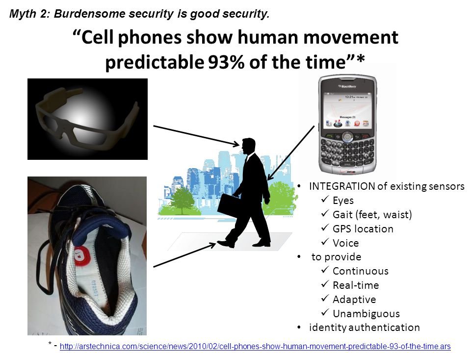 Cell phones show human movement predictable 93% of the time *