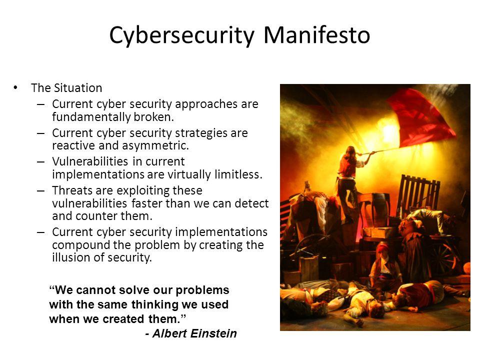 Cybersecurity Manifesto